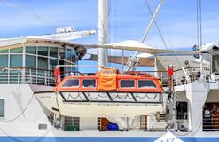 Bote salvavidas a bordo de la nave Imagen de archivo libre de regalías
