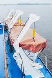 Bote salvavidas en cubierta de un barco de cruceros Foto de archivo libre de regalías