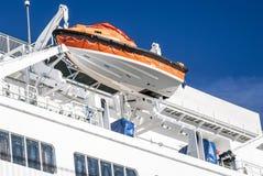 Bote salvavidas o barco de la seguridad Imágenes de archivo libres de regalías