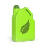 Bote verde con símbolo de la hoja Imagen de archivo libre de regalías
