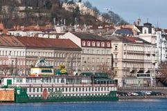 Botel, Praga, Czeski Republich Zdjęcia Stock