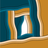 Botella abstracta fondo azul del ylow Foto de archivo