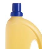 Botella amarilla de producto de limpieza de discos doméstico imagen de archivo