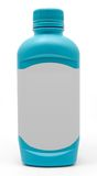 Botella antiácida azul de la medicina Imagenes de archivo