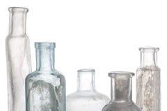 Botella antigua en blanco imágenes de archivo libres de regalías