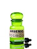 Botella arsénica Fotos de archivo