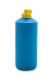 Botella azul Imagen de archivo libre de regalías