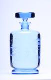 Botella azul Fotos de archivo