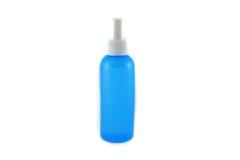 Botella azul Imágenes de archivo libres de regalías