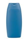 Botella azul del champú Foto de archivo libre de regalías