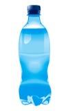 Botella azul en vector Fotografía de archivo libre de regalías
