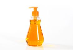 Botella con el jabón líquido Imagen de archivo