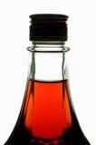 Botella con el jarabe de arce Imagen de archivo libre de regalías
