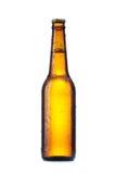 Botella con la cerveza foto de archivo