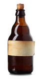 Botella con la escritura de la etiqueta Fotografía de archivo