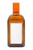 Botella con la escritura de la etiqueta en blanco Fotos de archivo