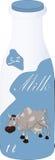 Botella con leche Imagen de archivo libre de regalías