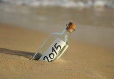 Botella con un mensaje, 2015 Imágenes de archivo libres de regalías