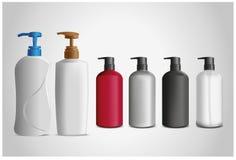 Botella cosmética Imagen de archivo libre de regalías
