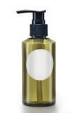 Botella cosmética blanca imagen de archivo