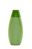 Botella cosmética verde Imagen de archivo