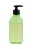 Botella cosmética verde Fotografía de archivo