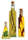 Botella de aceite Imagen de archivo libre de regalías