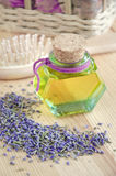 Botella de aceite cosmético Fotos de archivo libres de regalías