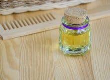 Botella de aceite cosmético Imagen de archivo