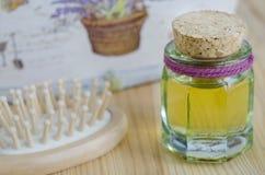 Botella de aceite cosmético Fotografía de archivo
