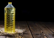 Botella de aceite de la soja Fotografía de archivo