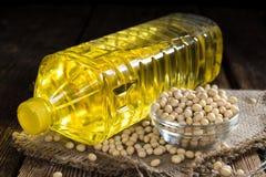 Botella de aceite de la soja Imagen de archivo libre de regalías