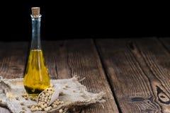Botella de aceite de la soja Foto de archivo