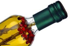 Botella de aceite de oliva Imagenes de archivo
