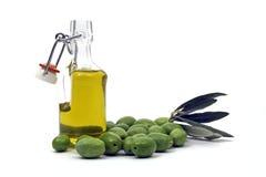 Botella de aceite de oliva Fotografía de archivo