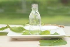 Botella de aceite esencial imágenes de archivo libres de regalías