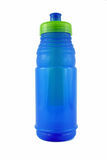 Botella de agua azul Fotografía de archivo libre de regalías