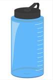 Botella de agua azul aislada Imágenes de archivo libres de regalías
