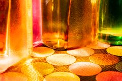 Botella de agua colorida foto de archivo libre de regalías