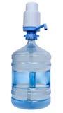 Botella de agua de consumición con el dispensador manual de la bomba foto de archivo libre de regalías