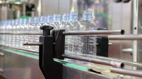 Botella de agua del ANIMAL DOMÉSTICO en transportador Imagen de archivo
