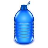 Botella de agua plástica de cinco litros aislada en el vector blanco Imágenes de archivo libres de regalías