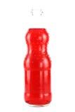 Botella de agua roja imagen de archivo libre de regalías