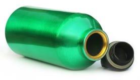 Botella de agua verde Imagen de archivo libre de regalías
