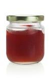 Botella de atasco mezclado de la fruta foto de archivo