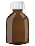 Botella de Brown con el casquillo Fotografía de archivo libre de regalías