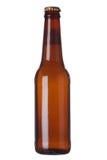 Botella de Brown con el líquido Imágenes de archivo libres de regalías