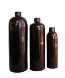 Botella de cerámica tres Imagen de archivo libre de regalías