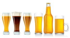 Botella de cerveza Imagen de archivo libre de regalías