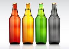 Botella de cerveza de cristal Foto de archivo libre de regalías